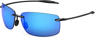 JULI Sports Sunglasses for Men Women Tr90 Rimless Frame for Running Fishing Golf Surf Driving Cycling Lifestyle MJ8008