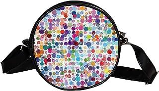 Coosun Umhängetasche mit Punktemuster, Wasserfarben, rund, Schultertasche für Kinder und Damen