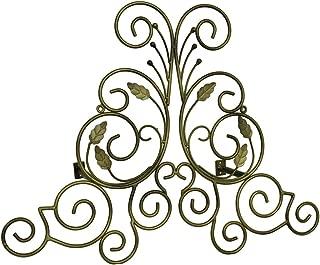 Zeckos Bronze Finish Leaf Scroll Metal Drapery Crown/Wall Plaque 23 in.