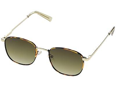 Le Specs Neptune Deux (Bright Gold/Tortoise/Khaki Gradient) Fashion Sunglasses