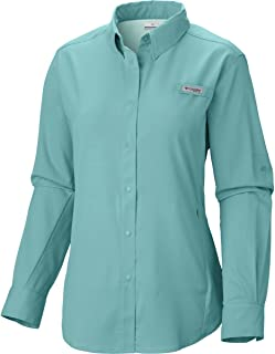 Columbia Women's PFG Tamiami II Long Sleeve Shirt, UV Sun Protection, Moisture Wicking Fabric