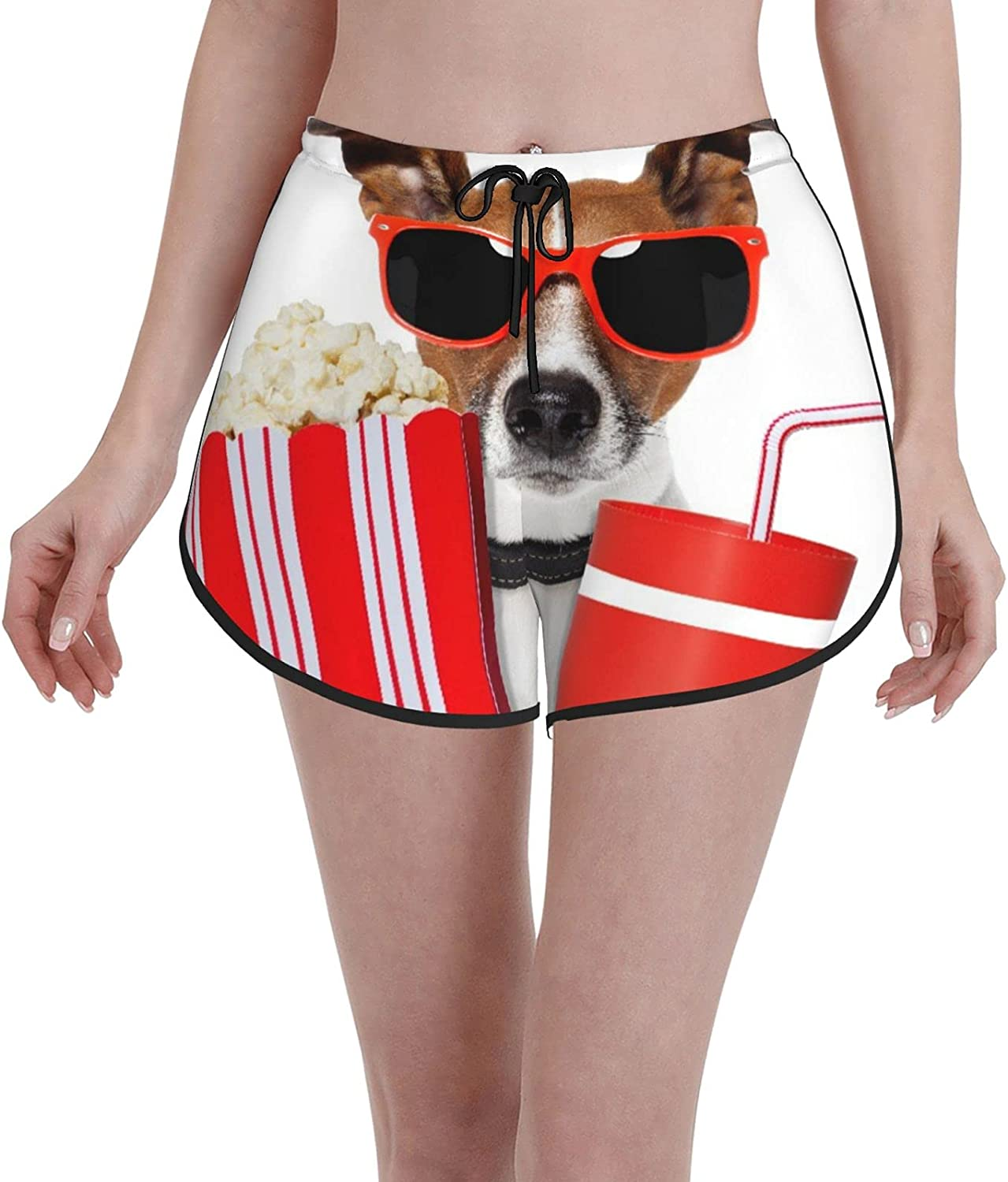 Minalo Recommendation Women's Girl's Swim Trunks Dog Movie Max 59% OFF Beac A Watching