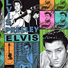 1/2 Yard - Elvis Block Style Cotton Fabric - Officially Licensed (Great for Quilting, Sewing, Craft Projects, Curtains, Pillows, More) 1/2 Yard x 44
