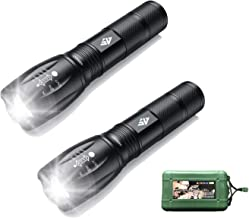 AUSELECT Ultra-Bright Flashlights, High Lumens Cree LED Tactical Flashlight, Zoomable Adjustable Focus, IP65 Water-Resista...