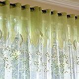 Moderno tulle finestra cucina tende per camera da letto verde foglie tende per soggiorno t...