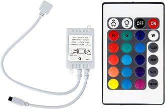 RGB Controlador 24V, epbowpt 24Keys LED RGB Strip 24V IR Remote Controller Control de mando a distancia controlador para 10m 5050SMD LED tira luz cinta Cambio de color LED Barra de luz