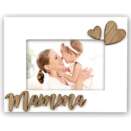 Zep MM465I Cornice Mamma I In Legno, Bianco