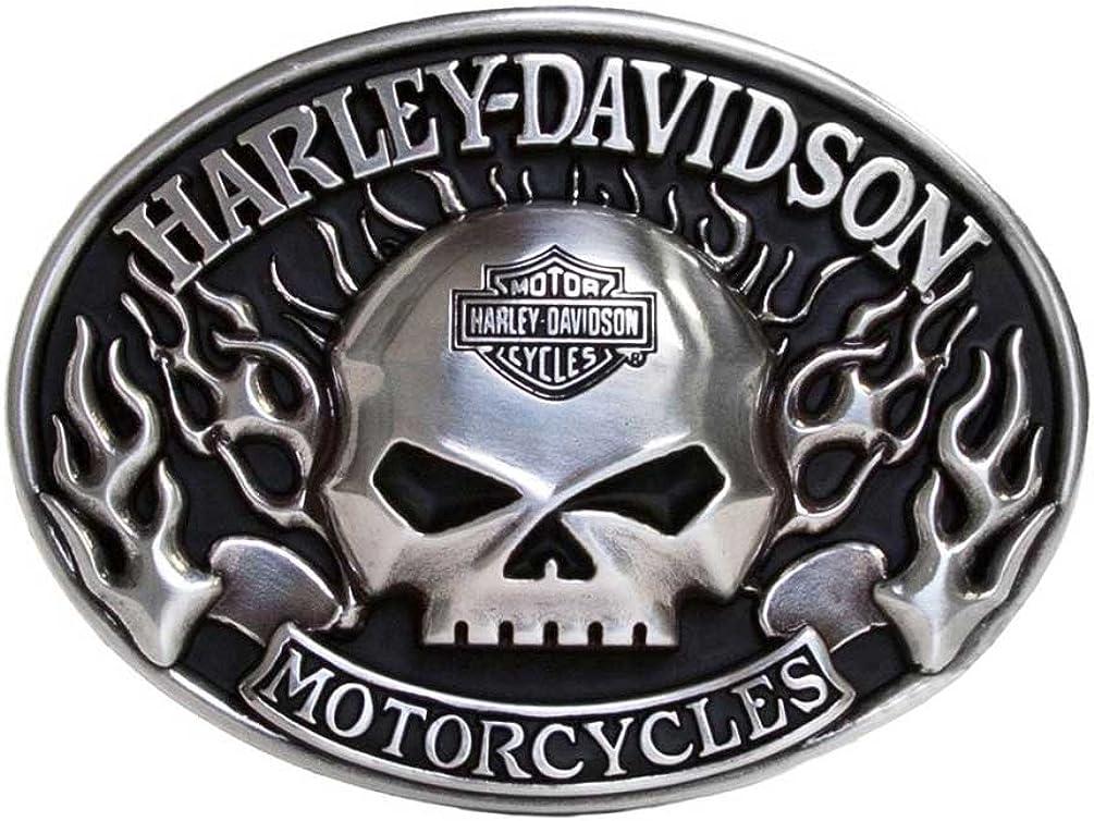 Harley-Davidson Mens Belt Buckle Immunity Skull Willie G quality assurance Financial sales sale Flame S