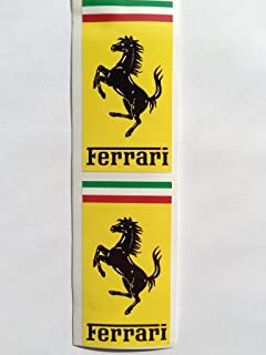 2 Ferrari Shield Hood Badge Rectangle Die Cut Decals