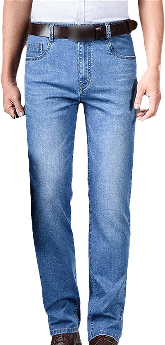 Men's Jeans Business Classic Casual Fashion top Denim Overalls Trousers Slim Pants