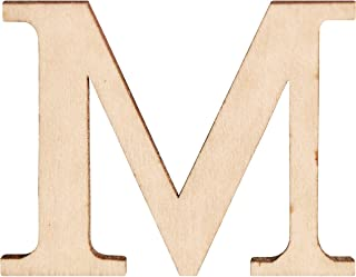 Walnut Hollow 200250 Madera Letters & Numbers 1.5 pulg 2-Pkg-M