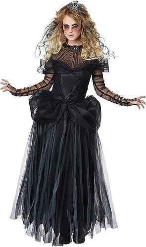 CWZJ HalFaibleeen Fantaisie Ghost Nuptiale Robe Ensemble Zombie Cadavre Nuptiale Costume Adulte Costume Fantasia Party Cosplay femmeswear
