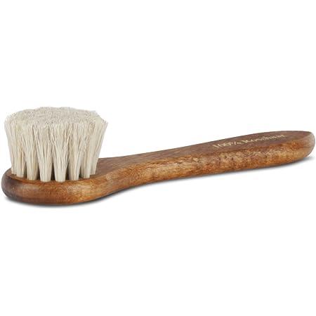 Langer & Messmer brosse crème 100% crin pour l'application de cirage et de cire aux chaussures - la brosse à chaussures pour le soin professionnel