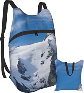 Mochila plegable, mochila para ordenador, color morado y blanco, antirobo, delgada, duradera, para la universidad, escuela, computadora
