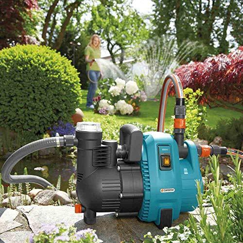 Gardena 01732-61 Gartenpumpe 4000/5, 1100 W, türkis, schwarz, Orange