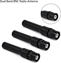 TWAYRDIO SF20 Short Two Way Radio Antenna BNC Connector UHF/VHF 144/430MHz for icom IC-V80 IC-V82 IC-U82 Kenwood TK200 TK220 TK300 Walkie Talkies