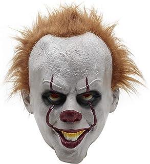 MIMINUO Máscara de látex Cosplay Asustadiza Máscara Facial Completa Disfraz de Halloween Fiesta Espeluznante Accesorios de