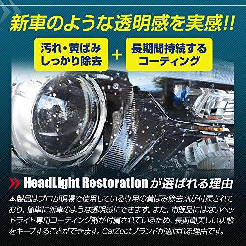 CarZoot『ヘッドライト専用コーティングキットHeadLightRestoration』