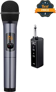 Kithouse K380F Wireless Microphone Karaoke Microphone Wireless Mic with Bluetooth Receiver Rechargeable Professional - UHF Dynamic FM Cordless Microphone For Singing Karaoke Speech(Elegant Gray) - coolthings.us