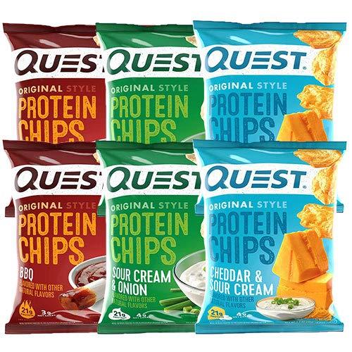 プロテイン チップス(Protein Chips) サワークリーム&オニオン, バーベキュー, チェダーサワークリーム バ...