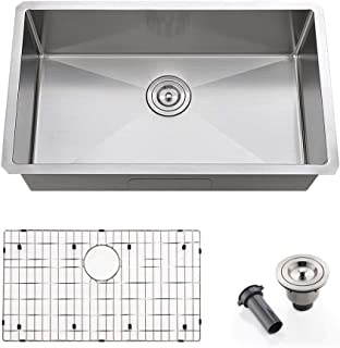VOKIM 28 Inch Single Bowl Undermount Kitchen Sink 16 Gauge10 Inch Deep Stainless Steel Kitchen Sink