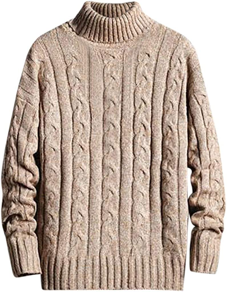 Wool Sweaters Men, NRUTUP Cool Sweaters Regular Fit Sweater, Chunky Knit Pullover Sweater, Winter Sweater Casual Work