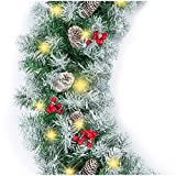Top 10 Flocked Christmas Garlands