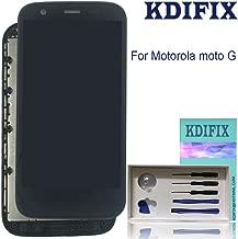KDIFIX for Motorola Moto G (1st Gen) XT1031 XT1032 XT1033 XT1034 XT1036 LCD Touch Screen Assembly + Frame with Full Professional Repair Tools kit (Black)