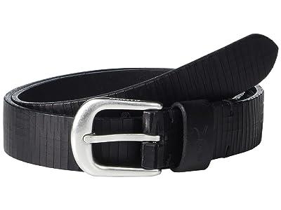 AllSaints 30 mm High Shine w/ Laser Line Texture (Black) Men