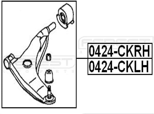New OEM Mitsubishi Carisma 1997-2002 ARM ASSY RH MR244924 RR SUSP TRAILING
