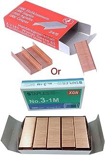 YOURPAI agrafes en métal, 1000 pièces/boîte 12mm 12#24/6 agrafes en métal créatives Bureau Fournitures de Reliure d'école ...