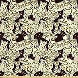 Lunarable Katzenstoff von The Yard, modernes Big Eyed Funk