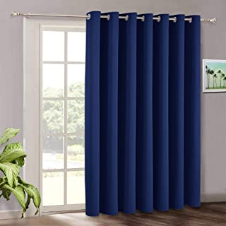 Best RYB HOME Vertical Blind Curtain for Living Room - Indoor Outdoor Patio Door Drape Grommet Blackout Curtains Panel for Bedroom Sliding Glass Door Gazebo, 100 x 84 inches Long, Marine Blue Review
