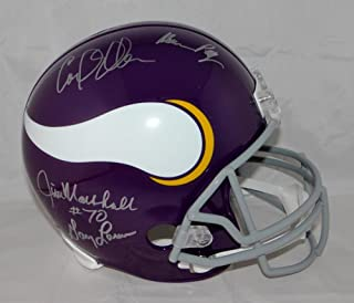 Purple People Eaters Autographed Minnesota Vikings Full Size Helmet- JSA Auth