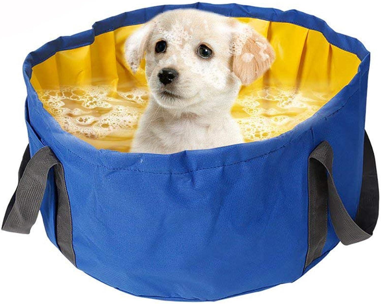 QBLEEV Dog Pool Bathtub, Foldable Pet Shower Bath Tub, Portable Small Dogs Cats Swimming Travelling Pool by, Waterproof Washing Bathing Supplies