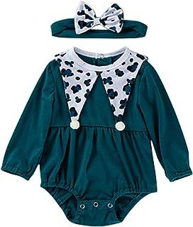 الوليد الرضع فتاة رومبير طفل طويل الأكمام فراشة التصحيح الكتان ارتداءها بذلة هيرمان (Color : Beige, Size : 6M)