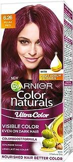 Garnier Color Naturals Crème Riche Hair Color, Plum Red, 55ml + 50g