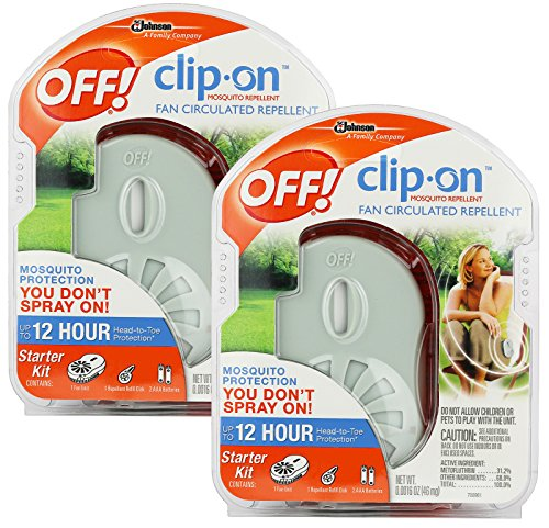 OFF! Clip-on Mosquito Repellent Fan, 2-Pack, 8 Piece Set