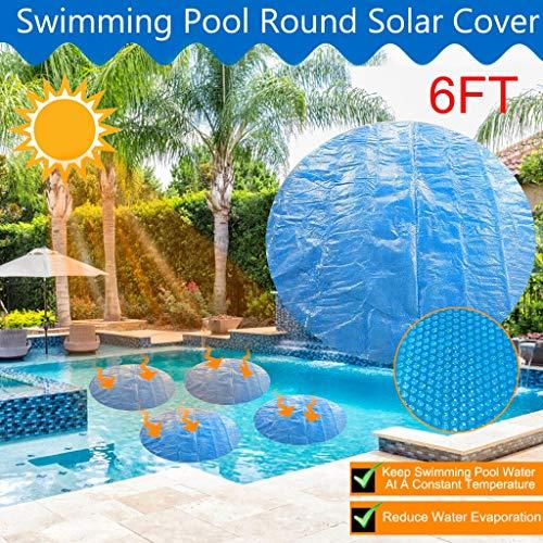 Couverture Le plus récent POOL COVER 1.8 * 1.8m / 1.5x1.5m / 1.2x1.2m ronde solaire piscine bain à ces 400 m Couverture de Bubble en plein air Accessoires 4/5 / 6FT Piscine ( Color : 183x183CM (6ft) )