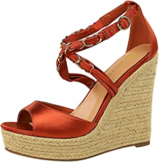 KemeKiss Women Fashion Wedge High Heels Summer Shoes Peep Toe