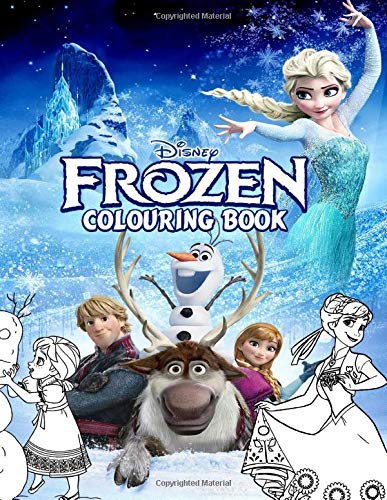 Frozen Colouring Book: Over 50 Colouring Pages Of Disney Frozen Movie, Elsa, Anna, Hans, Olaf,.. To Inspire Creativity And Relaxation. A Perfect Gift For Kids And Adults Before Upcoming Frozen 2 Movie