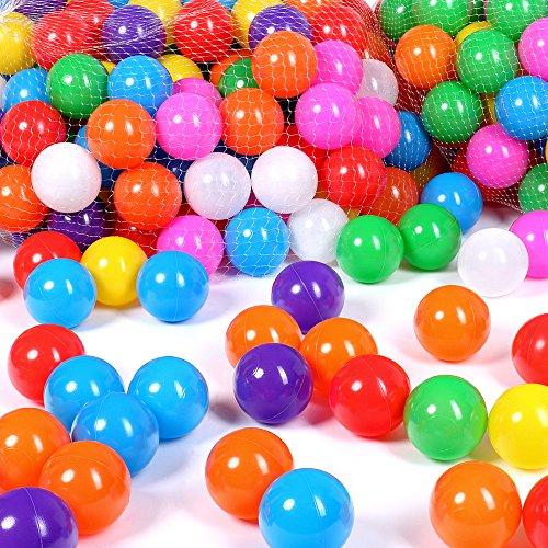 Schramm Balles 100 pièces pour Bain à balles Balles de 5,5 cm pour Bain à balles pour Enfants Balles pour bébé Balles en Plastique Balles pour Piscine à balles sans adoucissant Paquet de 100