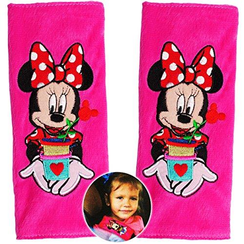 alles-meine.de GmbH 2 TLG. Set _ Gurtschoner / Gurtpolster -  Disney Minnie Mouse  - Gurtschutz - für Sicherheitsgurt - Gurt Polster - für Auto / Kindersitz / Autoschale - Scho..