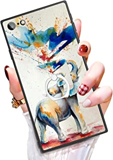 Someseed Case for iPhone 6 Plus iPhone 6s Plus Case with Kickstand Watercolor Elephant Cover Case with 360 Degree Ring Holder Anti Scratch Durable Full Protective for iPhone 6 Plus / 6s Plus 5.5