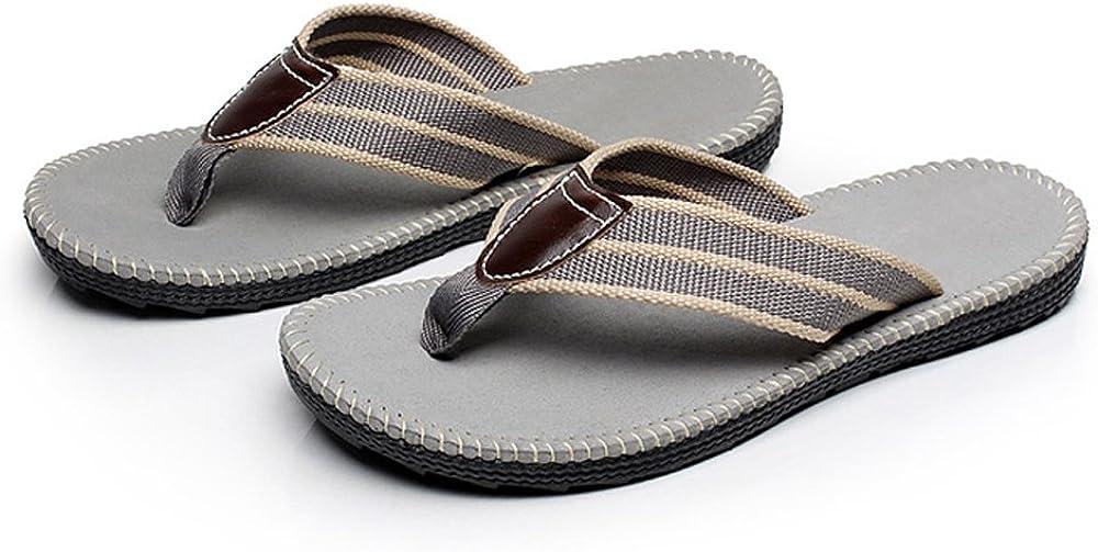 Aerusi Primo Men's Classic Woven Fabric Flip-Flop Sandals