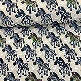 Brittschens Stoffe und Zutaten Stoff Softshell | Zebra auf