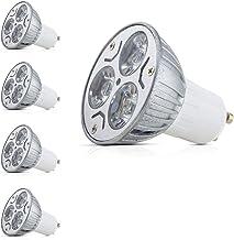 Mengjay® 4X GU10 LED-lampen spaarlamp 3W vervanging voor halogeenlampen warm wit 2700K - 3000K aluminium cover AC 85-265V