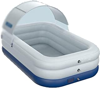 Inflatable Pool, Homech Inflatable Swimming Pool with Sun Shade, Family Swim Center Blow up Pool, UV50+ Sun Shelter, Recta...