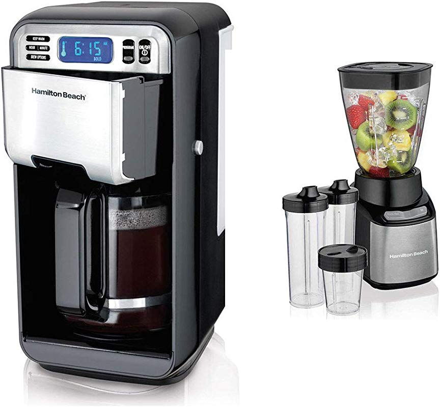 Hamilton Beach 12 Cup Programmable Coffeemaker Smoothie Blender W To Go Cups