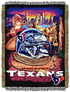 """Officially Licensed NFL """"Home Field Advantage"""" Woven Tapestry Throw Blanket,.."""